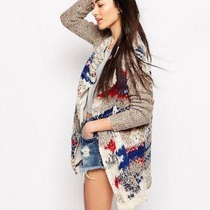 Free People fireworks cardigan sweater coat Small